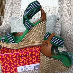 Tory Burch Wedge Espadrille Sandals